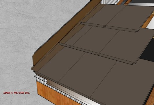 2D Tile Z Bar Eave to Rake Wall 13a